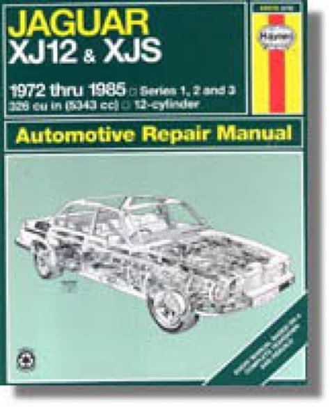 jaguar repair manuals jaguar shop manual resource autos post haynes jaguar xj12 xjs 1972 1985 auto repair manual