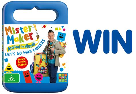 News Ebelle5 Giveaway Sponsored By Awcreations by Closed Win 1 Of 4 New Mister Maker Dvds Let S Go