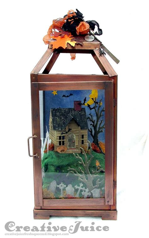 l and lantern village lisa hoel sizzix halloween lantern village dwelling die