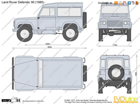 range rover vector the blueprints com vector drawing land rover defender 90