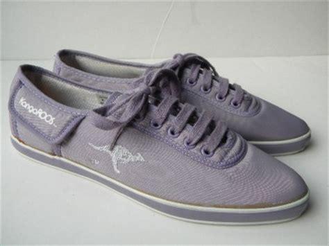 vtg new womens purple kangaroos tennis shoes w pockets 7