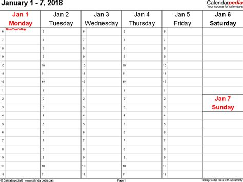 weekly printable calendar calendar monthly printable