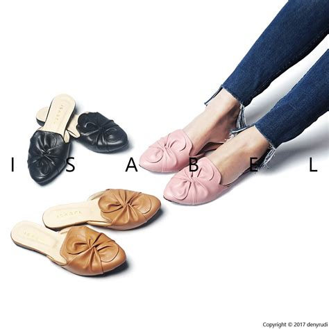 Sandal Mi22 Teplek Hitam Pink sydney sandal wanita sendal teplek selop murah