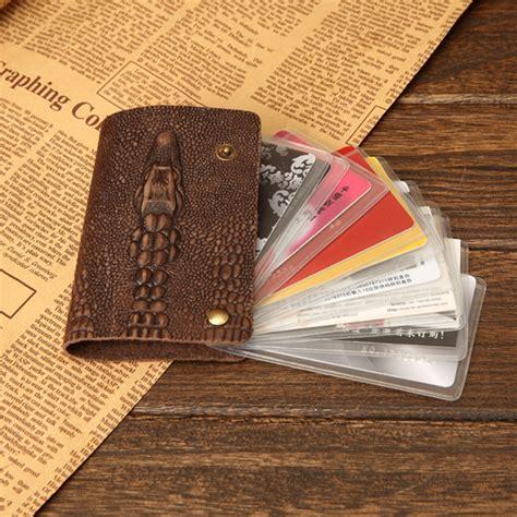 pattern credit card holder aliexpress com buy crocodile pattern vintage genuine