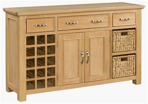 Oak Sideboard With Wine Rack siena oak large sideboard with wine rack sie054 pine shop bury