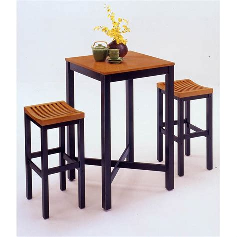 pub dining table home styles bar table black with veneer oak top 38891 kitchen dining at sportsman s guide