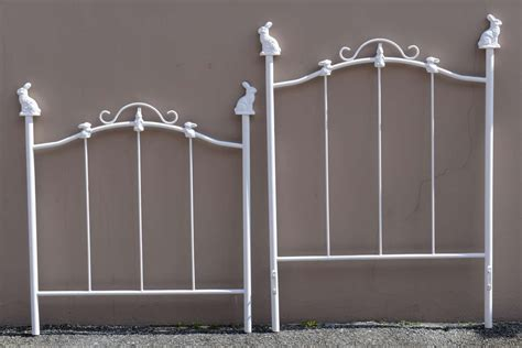 twin size vintage iron bunny bed at 1stdibs