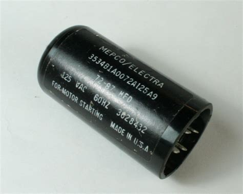philips starting capacitor 3534b1a0072a125a9 mepco philips capacitor 72uf 125v application motor start 2020013427
