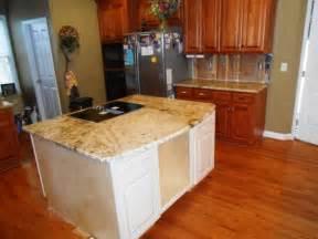 Houzz Bathroom Tile Ideas sienna beige granite on medium colored wood cabinets 4 9