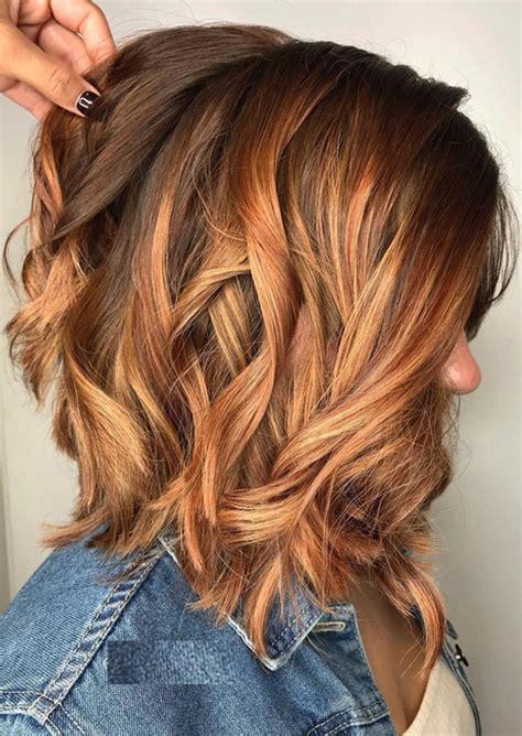 best summer highlights for auburn hair top 60 auburn balayage highlights for medium hair 2017