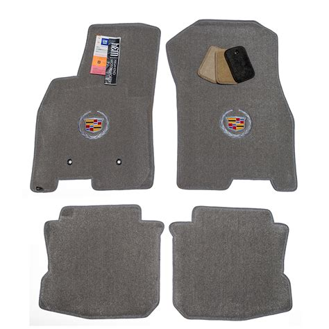cadillac dts titanium grey floor mats trunk mat set 2006