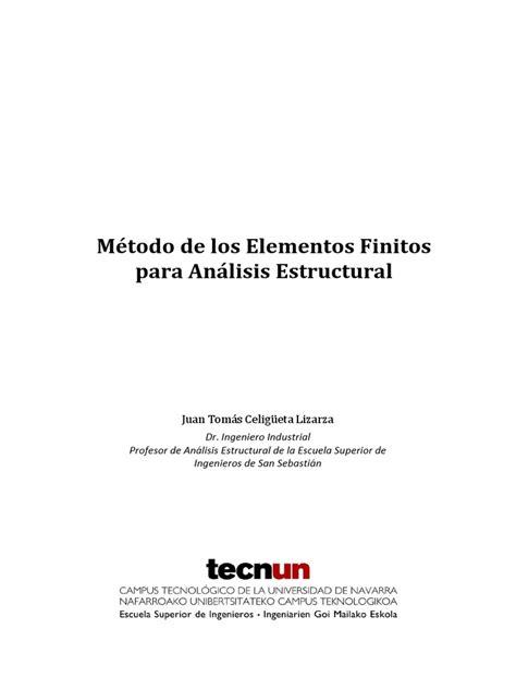 Elementos Finitos.pdf | Elasticidad (Física) | Estrés