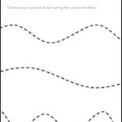 scissors skills worksheets for kids fine motor skills