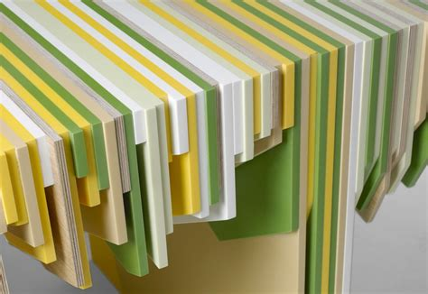 yellow corian rabih hage the leftover collection flodeau
