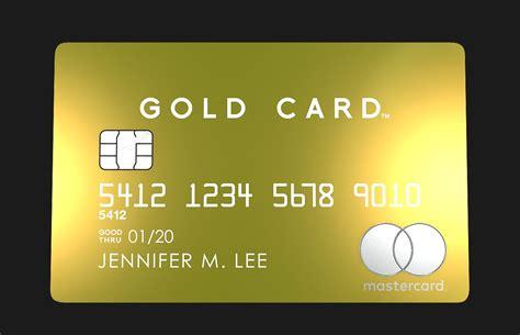 Card For mastercard gold card