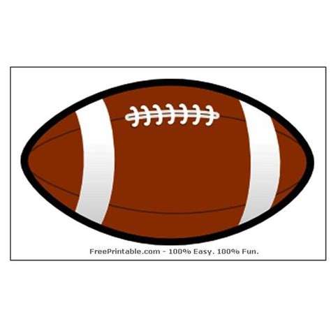 free printable football templates free football templates to from sources