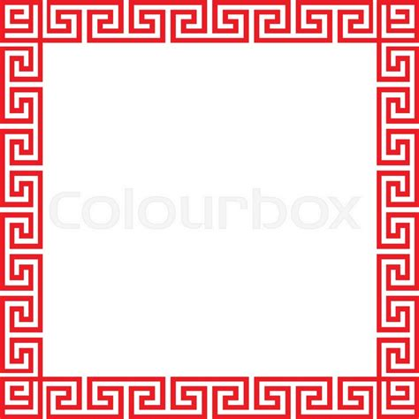 Chinese Pattern Frame Vector | chinese decorative square frame vector stock vector