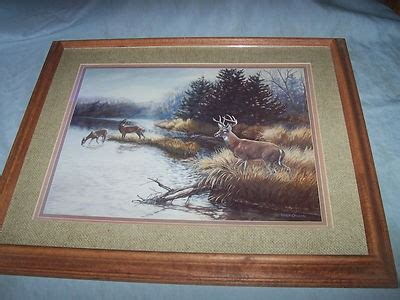 home interior deer picture vintage home interior deer picture glass wood frame julie crocker duck unlimited 293395964