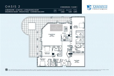 oasis floor plan 3200 south ocean condo highland beach intracoastal condo