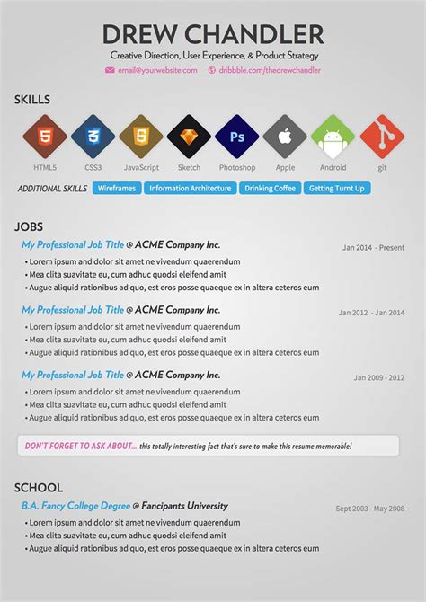 Graphic Design Resume Sles 2015 10 Free Resume Cv Templates Designs For Creative Media It Web And Graphic Designers 2015