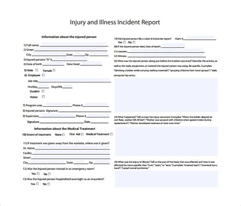 sample incident reports sample templates