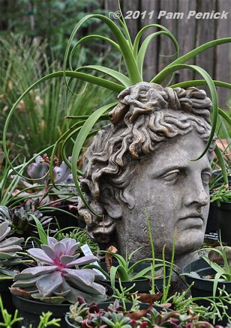 large head planters grecian head planter romantic country garden stroll