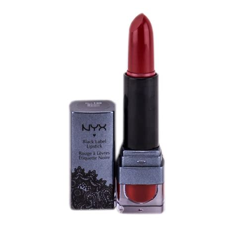 nyx luxurious black label lipstick bll 139 rasin nyx