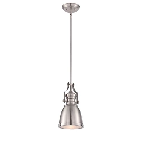 world imports collection satin nickel pendant with