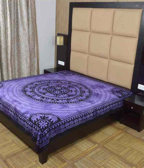 bed sheet fabric shine fabric purple traditional cotton single bed sheet