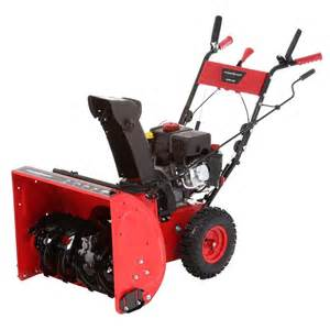 snow blowers at home depot powersmart 24 in 208 cc two stage gas snow blower