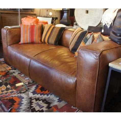 canap駸 flamant canap 233 bailey en cuir vintage par flamant