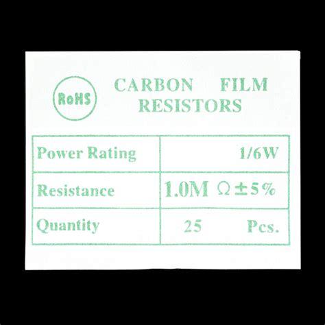 Resistor Tahanan 1 M Ohm 0 25 Watt resistor 1 0m ohm 1 6th watt pth 20 pack