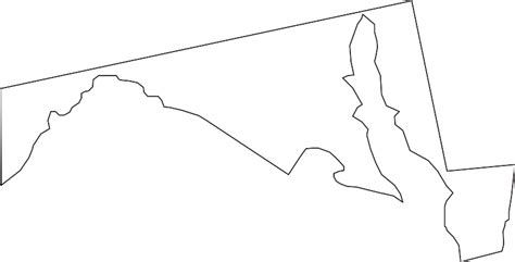 Maryland Map By County Outline by Maryland Map Clipart 26
