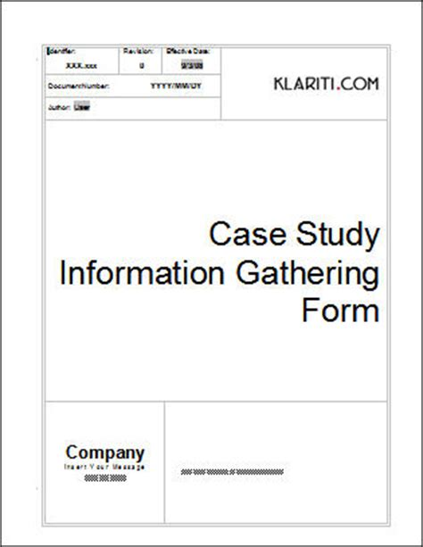 Case Study Template Download 6 Ms Templates With Sles Tutorials Study Templates Free
