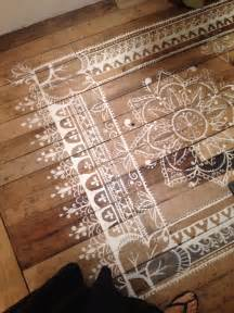 Floor Painting Ideas Wood Top 10 Stencil And Painted Rug Ideas For Wood Floors