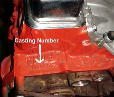 reference: chevy engine block casting numbers chevy hardcore