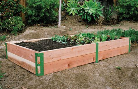 raised bed patio kit sustainable  life