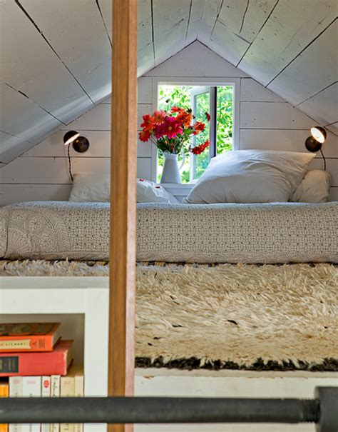 small house with attic bedroom by jessica helgerson