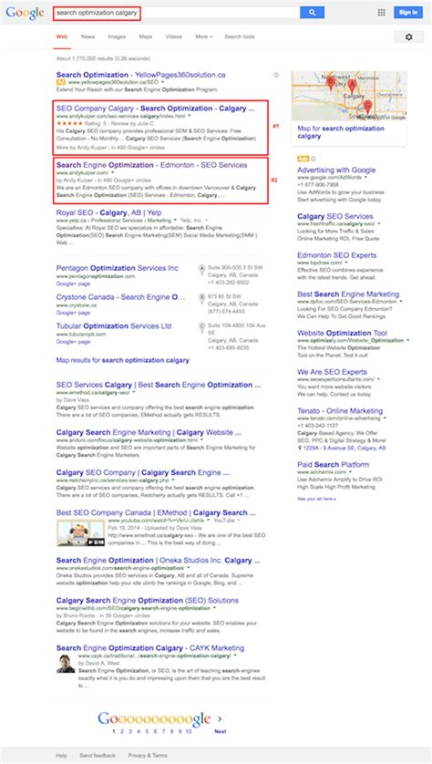 Search Calgary Calgary Seo Services Andy Kuiper Certified Search Engine Optimization Analyst
