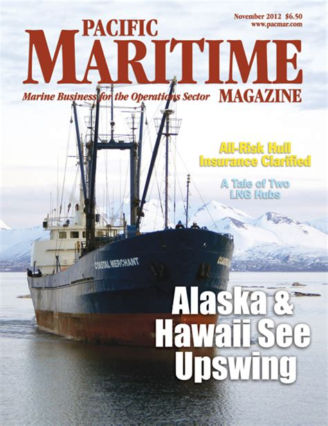 Coastal Merchant featured on cover of Pacific Maritime