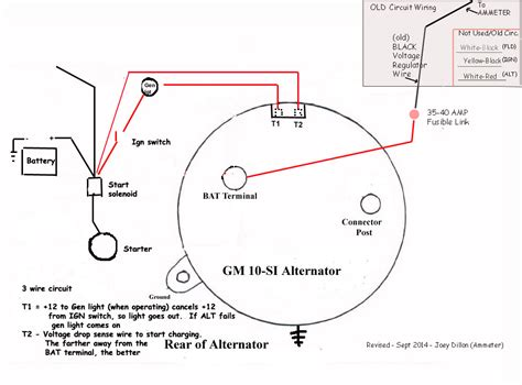 cs alternator wiring diagram 3 wire alternator diagram