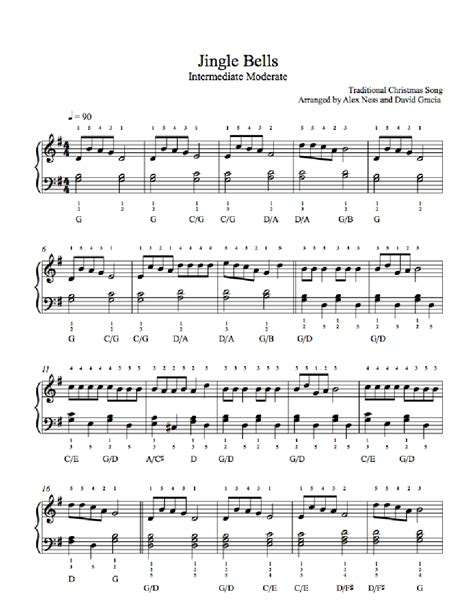 tutorial piano jingle bells jingle bells by traditional piano sheet music