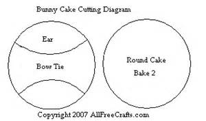 Bunny Cake Template by Bunny Shaped Cake