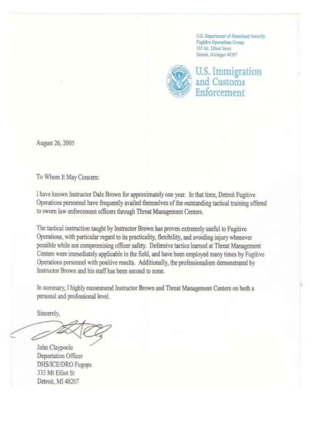 Recommendation Letter Sle Immigration Sle Letter For Immigration 100 Immigration