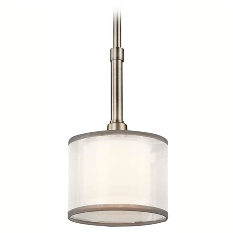 Kichler Mini Pendant Lights Kichler Mini Pendant Light With White Glass 42384ap