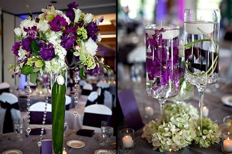 purple and green centerpieces for weddings in plum ivory and orange for weddings wedding