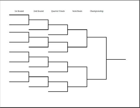 29 images of 8 player tournament bracket template