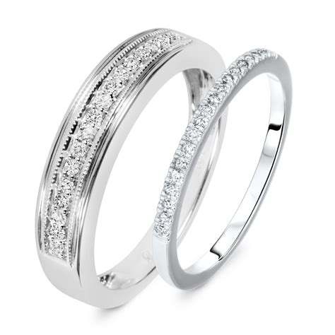 wedding ring sets his and hers white gold jewelry ideas