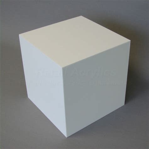 Cubes White 30cm white acrylic display cube box