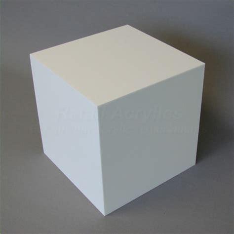 white display 40cm white acrylic display cube box